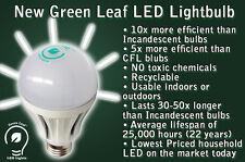 GREEN LEAF 9w LED Household Light Bulb USA Seller Instant On 2700K 109