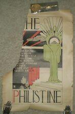 RARE, ANTIQUE LATE 1800'S, ORIGINAL POSTER, THE PHILISTINE, BOOK STORE AD