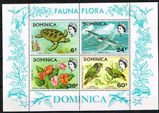 Dominica Colonial Island Flora and Founa Souvenir Sheet 1959 MNH