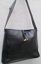 -Authentique   sac à main  LONGCHAMP  cuir  (T)BEG   vintage bag