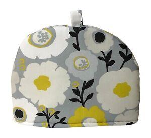 Handmade Mimi Ochre Scandi Floral Print Tea Cosy