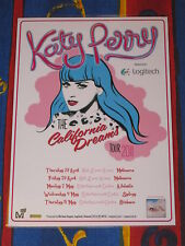 KATY PERRY - 2011 AUSTRALIA TOUR - CALIFORNIA DREAMS - LAMINATED TOUR POSTER