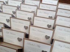 Personalised Wedding Name Place Setting | Charity Badge Favour Card
