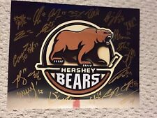 Hershey Bears 2018-19 Autographed Team Logo 11x14