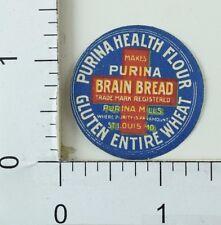 1890's Victorian Paper Label Purina Health Flour Brain Bread Gluten Wheat P35