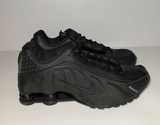 Nike Shox R4 Men's Size 7.5 Black Triple Black Retro Running BV1111 001 Womens 9