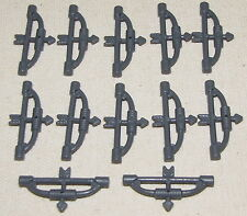 LEGO LOT OF 10 NEW DARK BLUISH GREY CROSSBOW BOW AND ARROW CASTLE WEAPONS