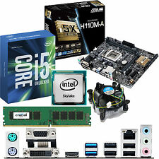 INTEL Core i5 6600K 3.5Ghz & ASUS H110M-A & 4GB DDR4 2133 CRUCIAL Bundle