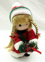Christmas Girl Musical Doll Animated Jingle Bells Rare Vintage Terrys Village