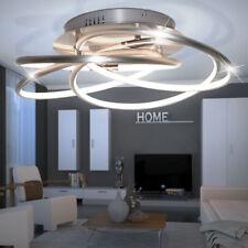 40 Watt LED Decken Leuchte Alu Beleuchtung Dimmbar Wohn Ess Zimmer Ringe Lampe