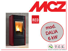 Stufa a pellet RED ( MCZ ) mod. DALIA - pellet stove - potenza 6 kW