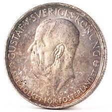 5 Kronen Silber Münze Schweden 1935 Gustaf Gustav V Sveriges Silver Coin Sweden