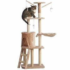 Milo & Misty Cat Scratching Post Activity Centre Large Sisal Play Tower in Beige