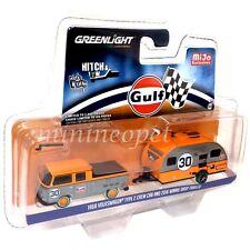 GREENLIGHT 51114 C 1968 VOLKSWAGEN TYPE 2 & 2016 WINNIE DROP GULF 1/64 CHASE CAR