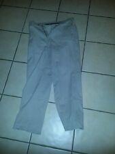 Savane Motion Men's Beige Solid Flat Front Khakis,  Sz 32W x 30L