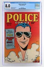 Police Comics #33 - CGC 8.0 VF - Quality 1944 - Plastic Man!!!