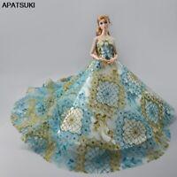 Floral Off-Shoulder Wedding Dress for Barbie Dolls Outfits Clothes Party Dresses