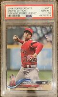 2018 Topps Update Shohei Ohtani Rookie Card #US1 PSA 10 RC Pitching Red Jersey