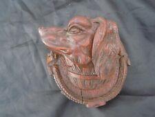 Sculpture bois chien de chasse art populaire époque 19ème hunting dog sculpture