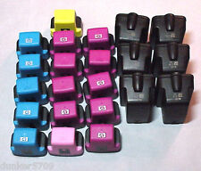 22 EMPTY HP 02 XL CARTRIDGES - 5 COLORS INCLUDED -EMPTY & NEVER REFILLED