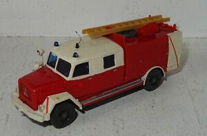 A610 Wiking Magirus Feuerwehr Leiterwagen Eigenbau von Modellbauer 1:87