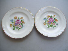"Rare Vintage Knowles USA Co  Set Of Two 6"" Saucer Plates"