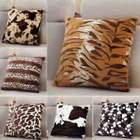 Zebra Leopard Print Pillow Case Waist Throw Cushion Cover Fashion Decoration NEW