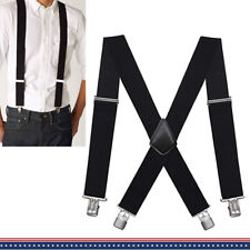 Big &Tall Mens Industrial Strength Ballistic Nylon Clip End Work Suspenders 2