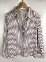 ERFO Bluse, Größe 42, lila weiß gestreift