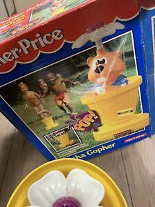 SUPER RARE Fisher Price Gotcha Gopher 90's Water Sprinkler Excellent 1994 #2830