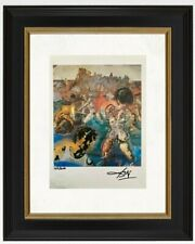 Salvador Dali hand signed original print certificate COA $3450 year 1986