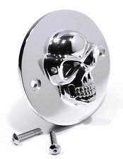 3D Skull Zündungsdeckel Chrom für Harley Davidson 70-03 Pointcover Totenkopf HD
