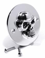 3D Skull Ignition Cover Chrome for Harley Davidson 70-03 Pointcover Skull HD