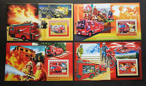 [SJ] Guinea Fire Engine 2006 Fighter Car Helicopter Motor Rescue Vehicle (ms MNH