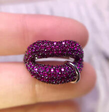 Red-hot Lips 925 Sterling Ring Girl's Fashion Jewelry USA Size 6 & 7 & 8 Newly