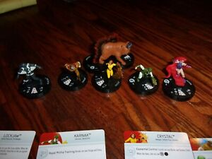 INHUMANS - HEROCLIX RARE COMPLETE SET -  LOT OF 6 - MARVEL - ALL CARDS INCLUDED