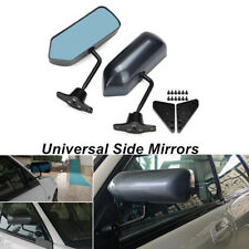 Pair Universal Auto F1 Style Carbon Fiber Look Side Mirrors Kit Cafe Racer Retro