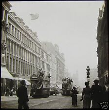 Glass Magic Lantern Slide SAUCHIEHALL STREET GLASGOW EXHIBITION 1901 PHOTO TRAM