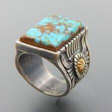 New Ring 925 Silver Turquoise Gems Women Men Jewelry Wedding Engagement Sz 6-10