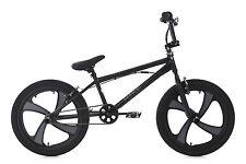 "Freestyle BMX Bike ""Rise"" Black/Grey 360° Rotor Mag Wheels 20"" KS Cycling 646B"