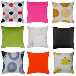 Cushion Covers Poly Cotton Floral Print 100% Egyptian Cotton Zip Home Sofa Decor