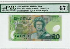 2004 - 08 New Zealand 20 Dollars PMG67 EPQ SUPERB GEM UNC  P-187b