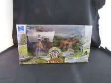 """New Ray """"The Big Country"""" Western Stagecoach & Cowboys Toy Play Set"""