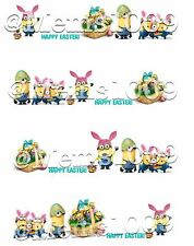 Easter Minion Nail decals (water decals) Easter nail art!