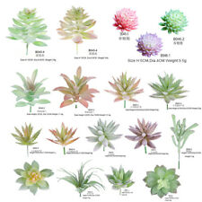 12PCS Artificial Succulents Fake Faux Plants Unpotted Home Garden Office Decor
