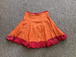 Stunning Catimini Skirt Tutu Skirt Adjustable Waist 11-12 Yrs Orange Layers