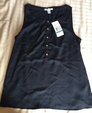 New With Tags Kenneth Cole Reaction Black Tank Top Blouse Size Large
