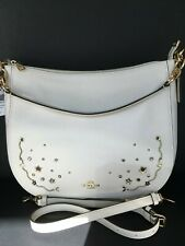 COACH ELLE WITH STARDUST CRYSTAL RIVETS HOBO (F49127) NWT$478
