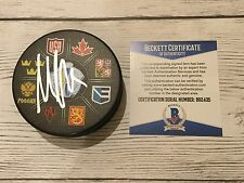 Max Pacioretty Signed 2016 World Cup of Hockey Puck Beckett BAS COA Go USA a