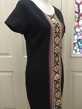 OLSENBOYE  Women's Dress Navy Blue Sheath Short Sleeve Polyester Size Medium